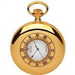 Royal London Gold Plated Quartz Date Pocket Watch PERSONALISED ref RLPW08